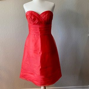 maxandcleo Lulu Strapless Dress in Salmon Color